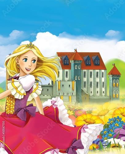 Foto-Stoff - The fairy - Beautiful Manga Girl - illustration