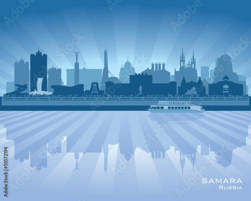 Valokuva  Samara Russia skyline city silhouette