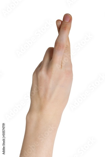 Photo cross your fingers