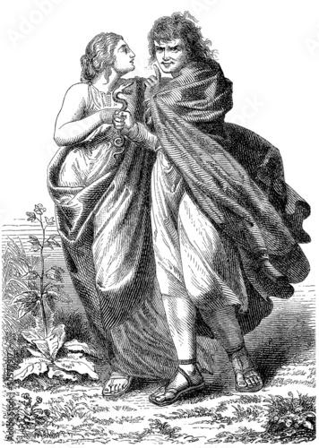 Photo  Pair - Couple - Paar (Ancient Germans)