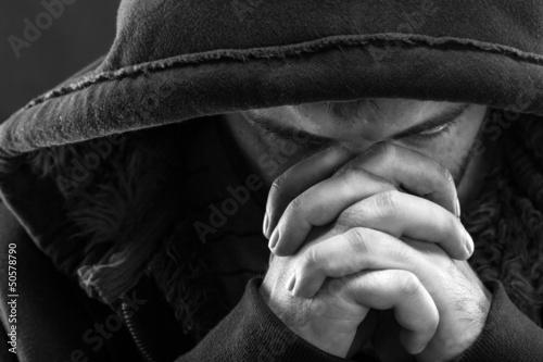 Fototapeta Praying bandit