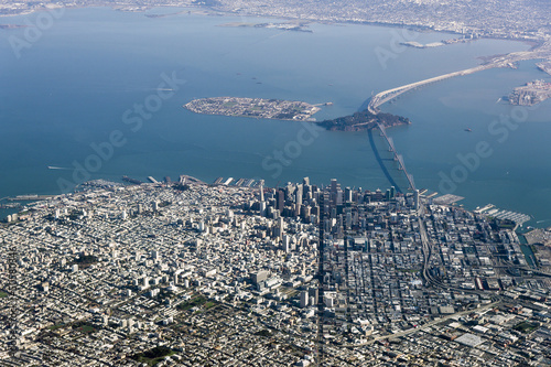 Keuken foto achterwand San Francisco Aerial Photograph of downtown San Francisco and the Bay