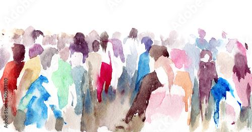 Foto auf Leinwand Gemälde crowd