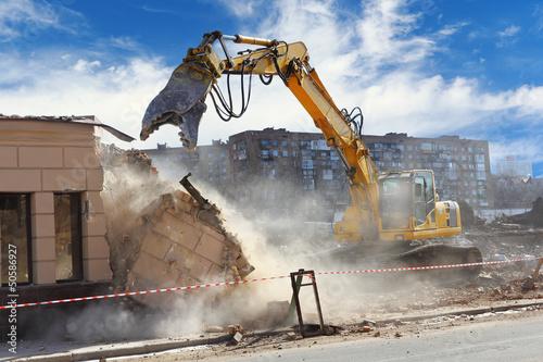 Fotografie, Obraz Building demolition