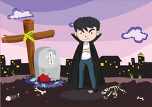 A Vampire At The Cemetery