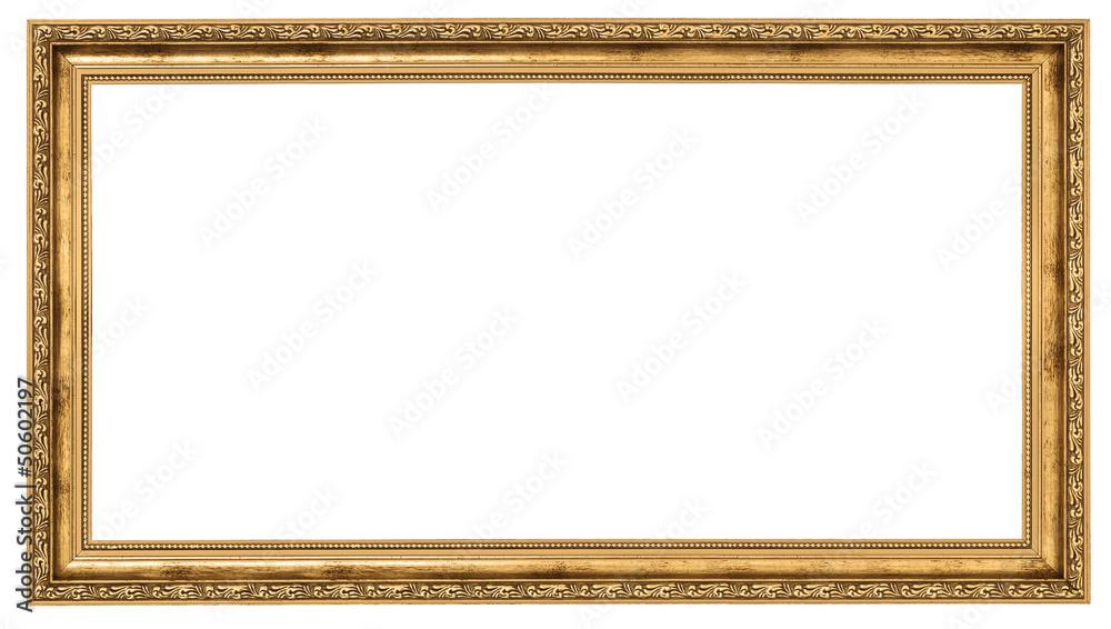 Fototapeta Extremely long golden frame