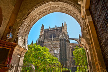 The Saint Mary Cathedral  In Seville, Spain.