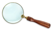 Magnifying Glass Isolated With...