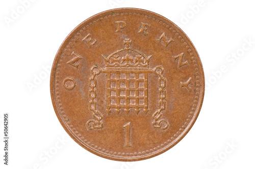Cuadros en Lienzo British one penny coin reverse