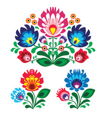 NaklejkaPolish floral folk embroidery pattern