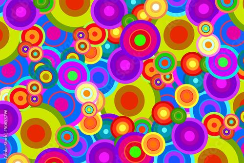 Photo  Retro Psychedelic Disco Circles