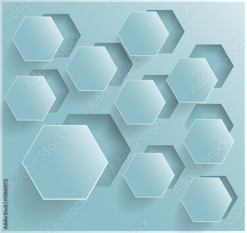Fototapety, obrazy: Vector abstract background Hexagon. Web Design