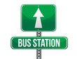 bus station road sign