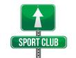 sport club road sign