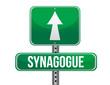 synagogue road sign