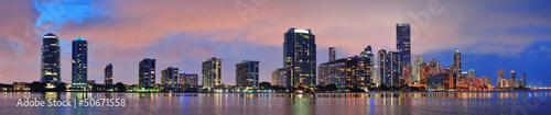 Obraz na płótnie Scena nocy Miami