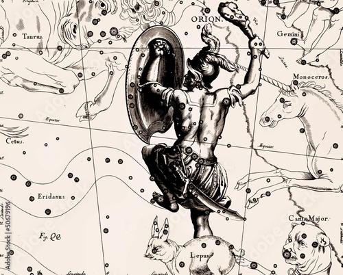 Fotomural Constellation vintage map