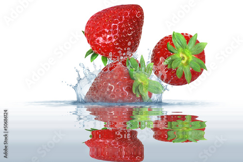 Foto op Canvas Opspattend water Obst 302