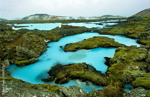 Canvas Prints Arctic The Blue Lagoon in Iceland