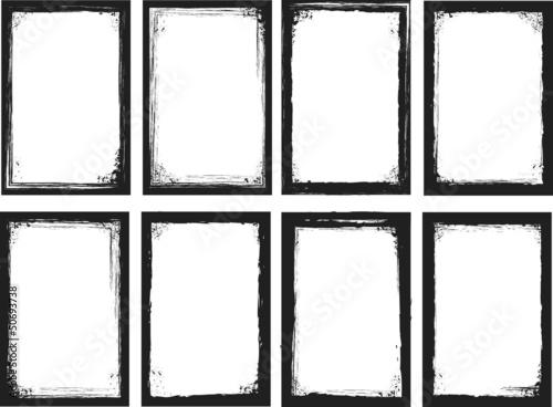 grunge frames. vector illustration.