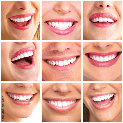 Beautiful woman smile collage. - 50703957
