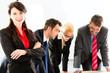 Business - Leute im Büro arbeiten als Team