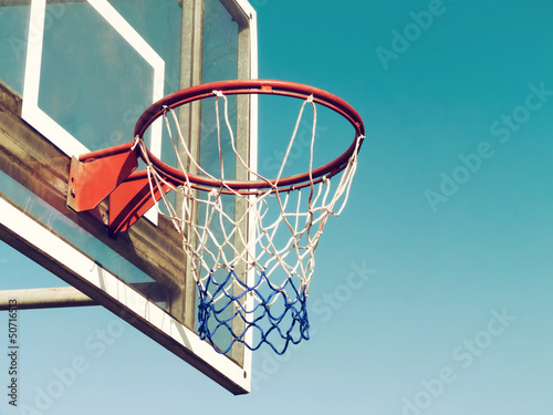Basketball Hoop Closeup Wallpaper Mural