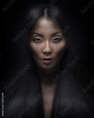 Photo  Beautiful young asian woman