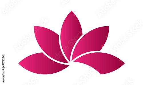 Plissee mit Motiv - Fleur Lotus rose