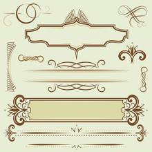 Set Monograms And Borders
