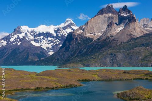 Foto op Plexiglas Blauw The National Park Torres del Paine, Patagonia, Chile