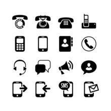 16 Icons Set. Сommunication, ...