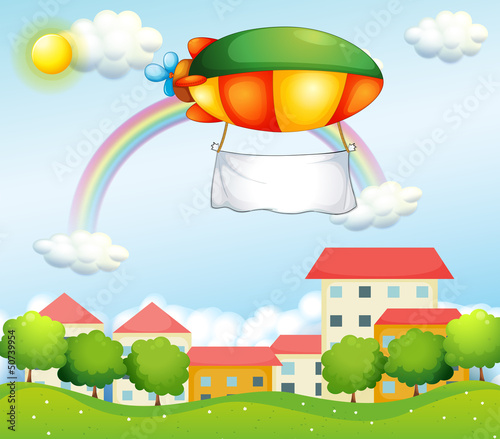 Papiers peints Avion, ballon A plane with an empty banner
