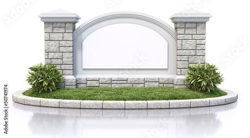 Fotografia  Monument sign
