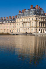 Fototapeta na wymiar Fontainebleau castle, Seine et marne, Ile de France, France