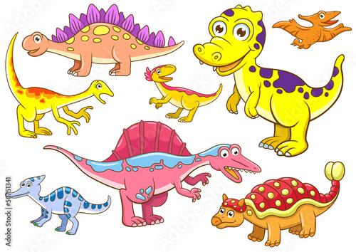 Keuken foto achterwand Dinosaurs Cute dinosaurs