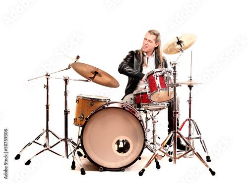 Photo rock drummer