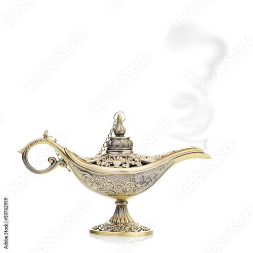Poster Egypte Aladdin magic lamp isolated on white