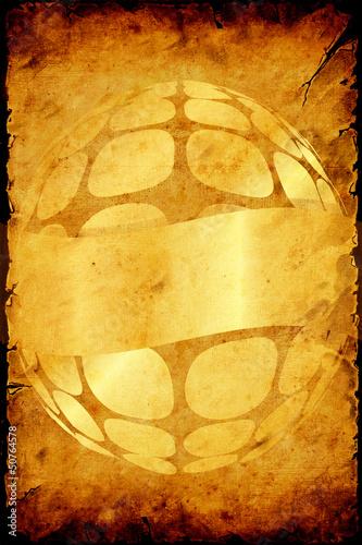 Foto op Plexiglas Vintage Poster Retroplakat - Goldener Partyflyer