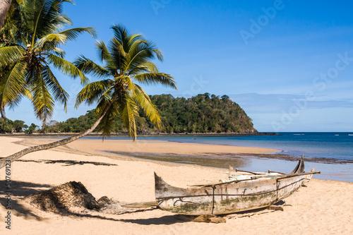 Poster Palmier Tropical beach landscape