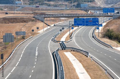 Autopista en el País Vasco (España)