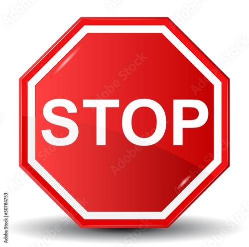 Fotografie, Obraz  Vector illustration of Stop sign