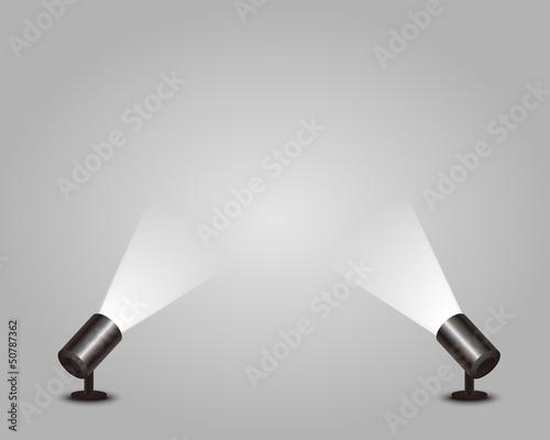 Staande foto Licht, schaduw スポットライト