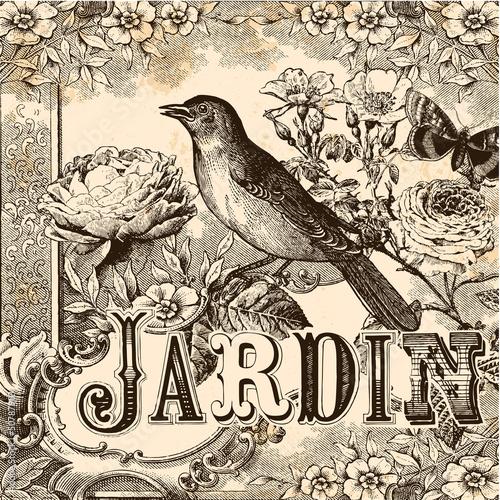 Fond Jardin vintage