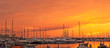 Leinwandbild Motiv Alghero harbor at sunset