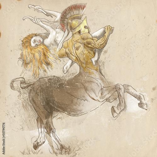 grecki-mit-i-legendy-pelnowymiarowy-rysunek-centaur-i-nimfa