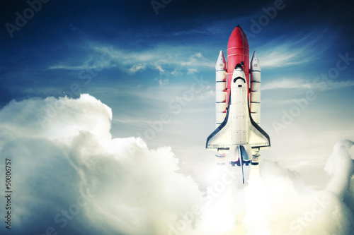 Tuinposter Nasa Space shuttle
