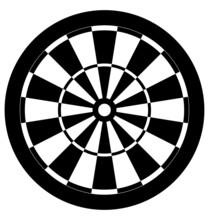 Dartboard Black And White Vector