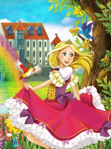 Foto-Lamellen (Lamellen ohne Schiene) - The princess - Beautiful Manga Girl - illustration (von honeyflavour)