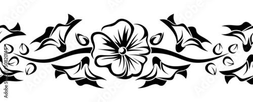 pozioma-bezszwowa-winieta-z-kwiatami-slazu-wektor